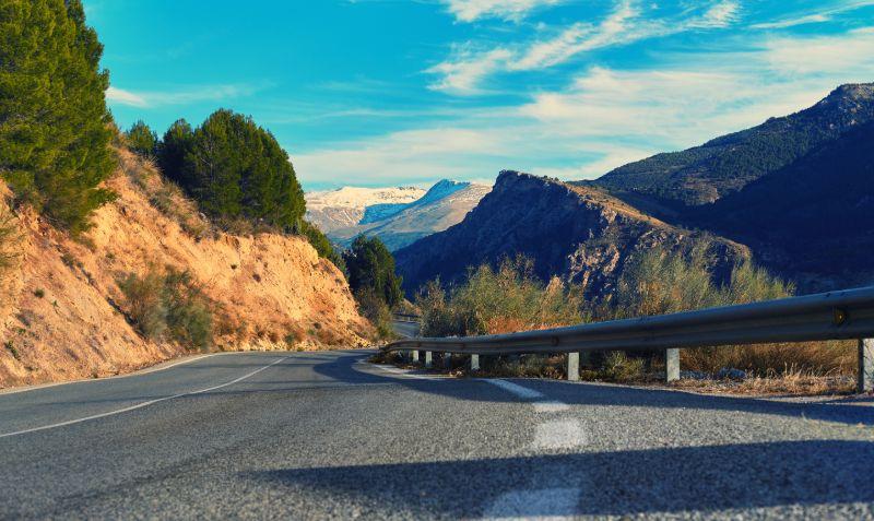bergweg Sierrra Nevada