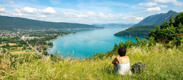 This could be your picnic view across Lake Annecy.