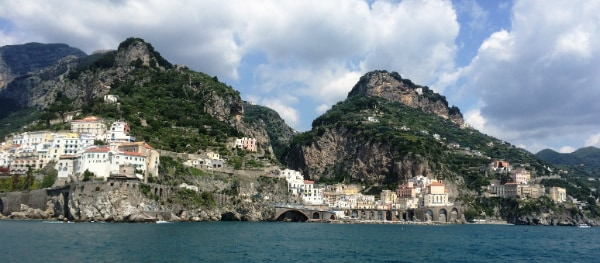 The boat trip shows all the highlights of the Amalfi Coast