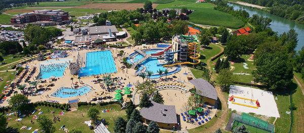 Het waterpark op Camping Terme Ptuj