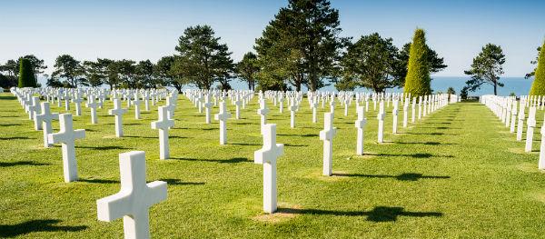 Het indrukwekkende American Cemetery in Colleville-sur-Mer