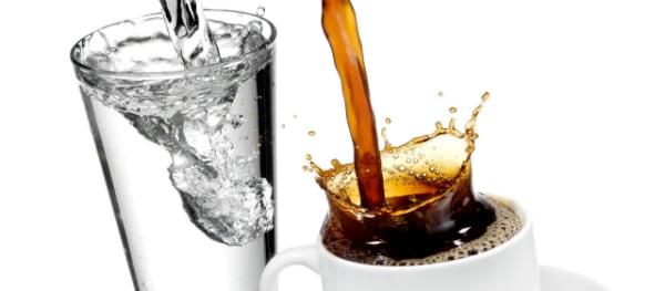 Koffie en water