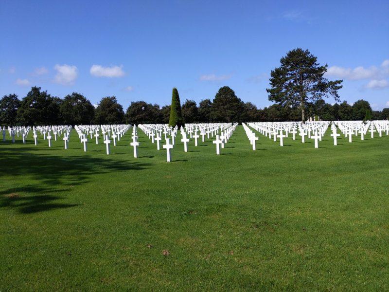 De Amerikaanse begraafplaats op Omaha Beach