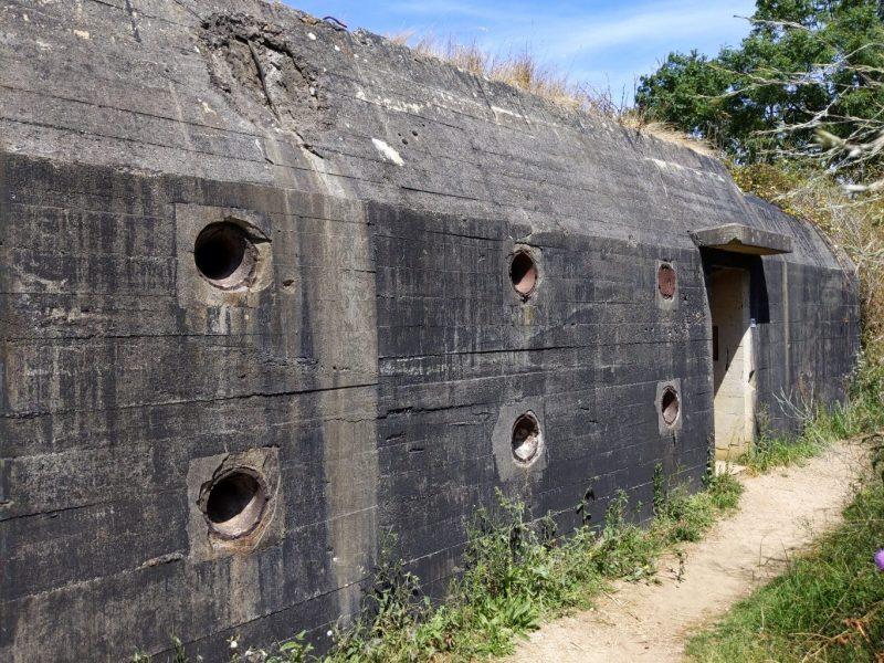 In deze bunker schuilden de nazi's