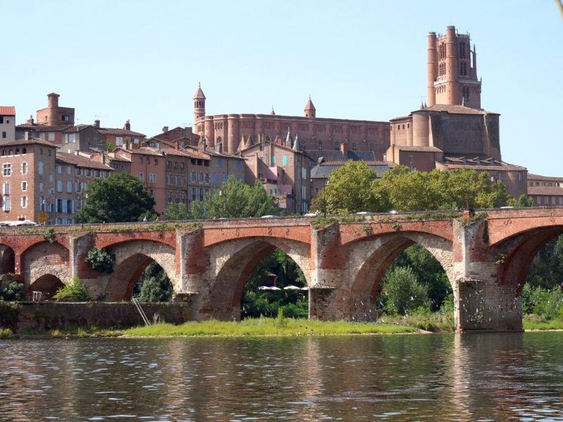 Pont Vieux en de kathedraal van Albi