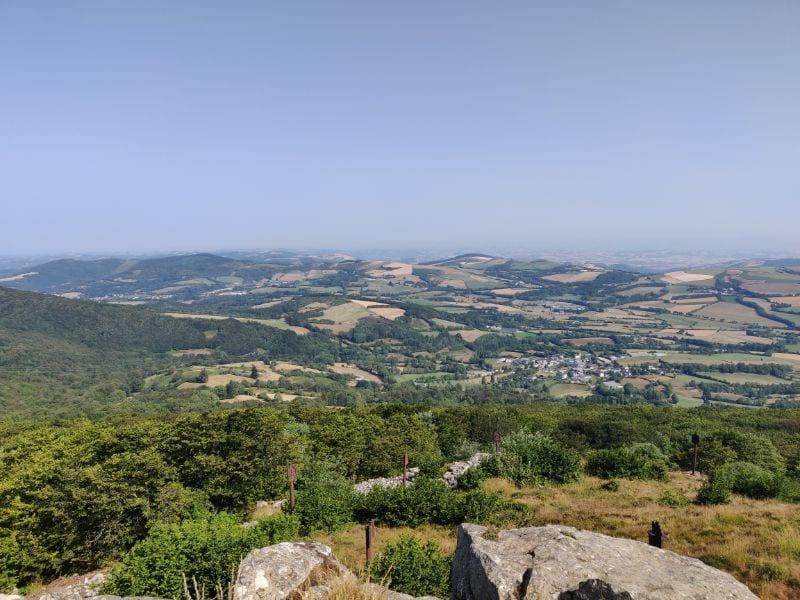 Uitzicht vanaf de Pic du Montalet over de Haut-Languedoc