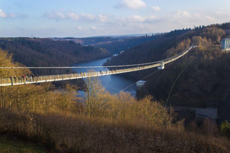 De Titan-RT in het Hartz-gebergte is de langste hangbrug van Duitsland.