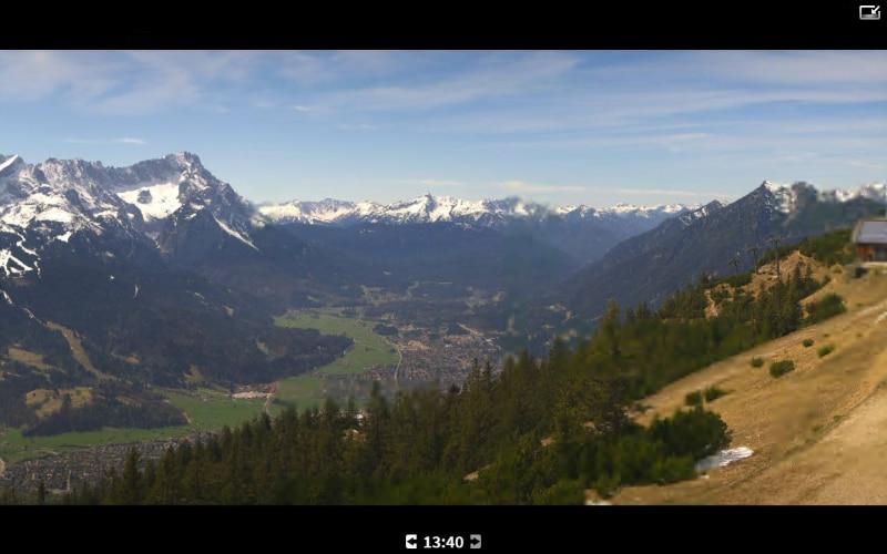 Uitzicht vanaf de Zugspitze.