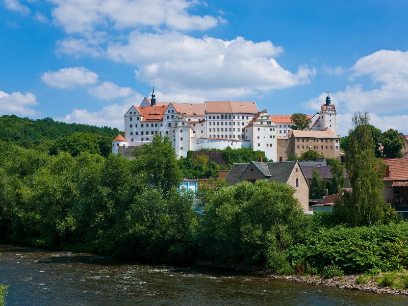 Colditz is one of the largest castles in Saxony and was used in World War II to hold fleeing officers prisoner of war.