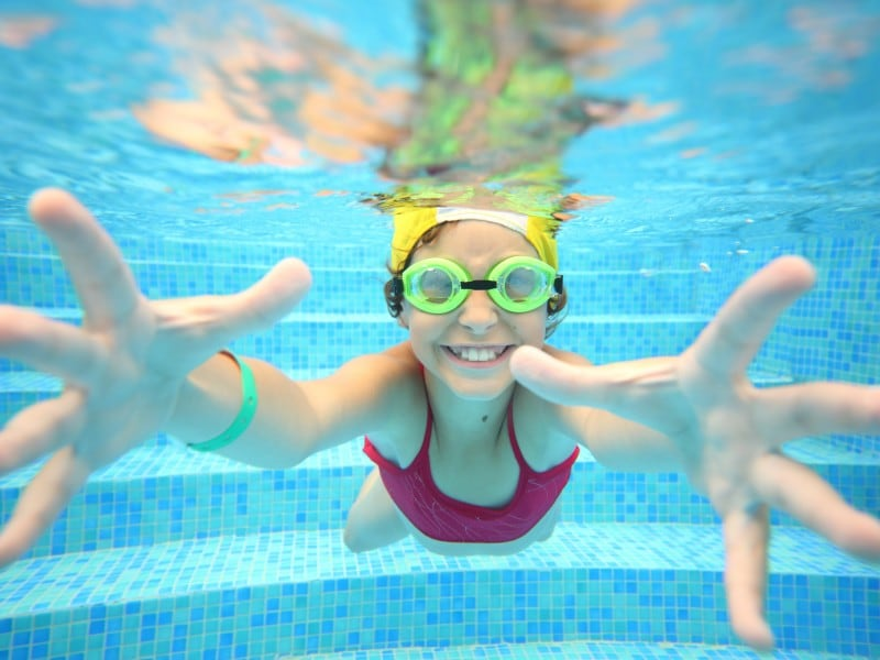 Many campsites in Italy have the rule that a swim cap is compulsory in the pool.