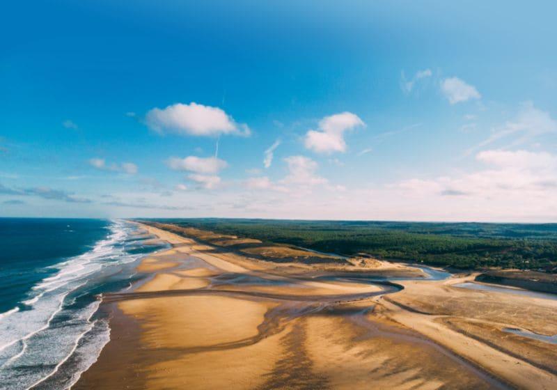 Genieten van de uitgestrekte stranden van de Atlantische kust